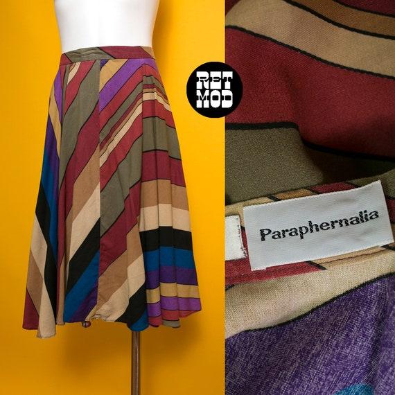 Perfect Vintage 70s Brown, Purple, Blue Stripe Sou