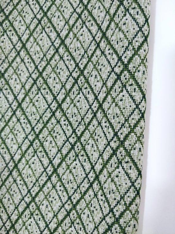 Smart Vintage 70s Green Plaid Pants Suit with Trim - image 6