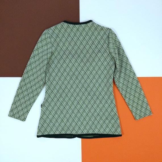 Smart Vintage 70s Green Plaid Pants Suit with Trim - image 7