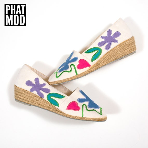 Size 7.5 DEADSTOCK Vintage 80s Matisse Vibe Abstra
