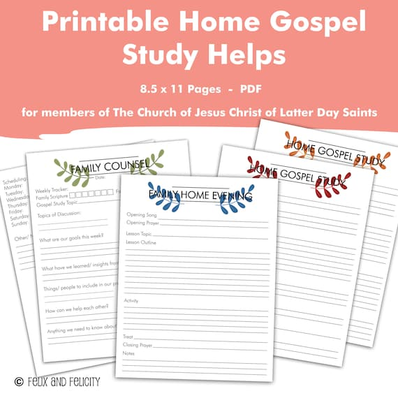 Printable Come Follow Me The Church of Jesus Christ of Latter Day