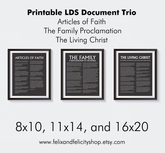 lds the family proclamation to the world the living christ the