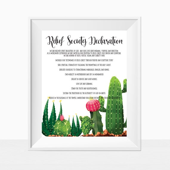 graphic regarding Relief Society Declaration Printable called Printable LDS Reduction Culture Declaration Assertion Church