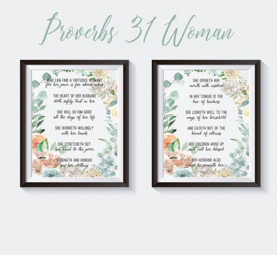Printable Proverbs 31 Woman Attributes Print Proverbs Scripture