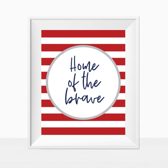 graphic about Braves Printable Schedule named PRINTABLE Patriotic 4th of July Flexibility Working day House of the