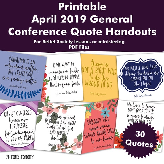 Printable April 2019 General Conference Quote Relief Society