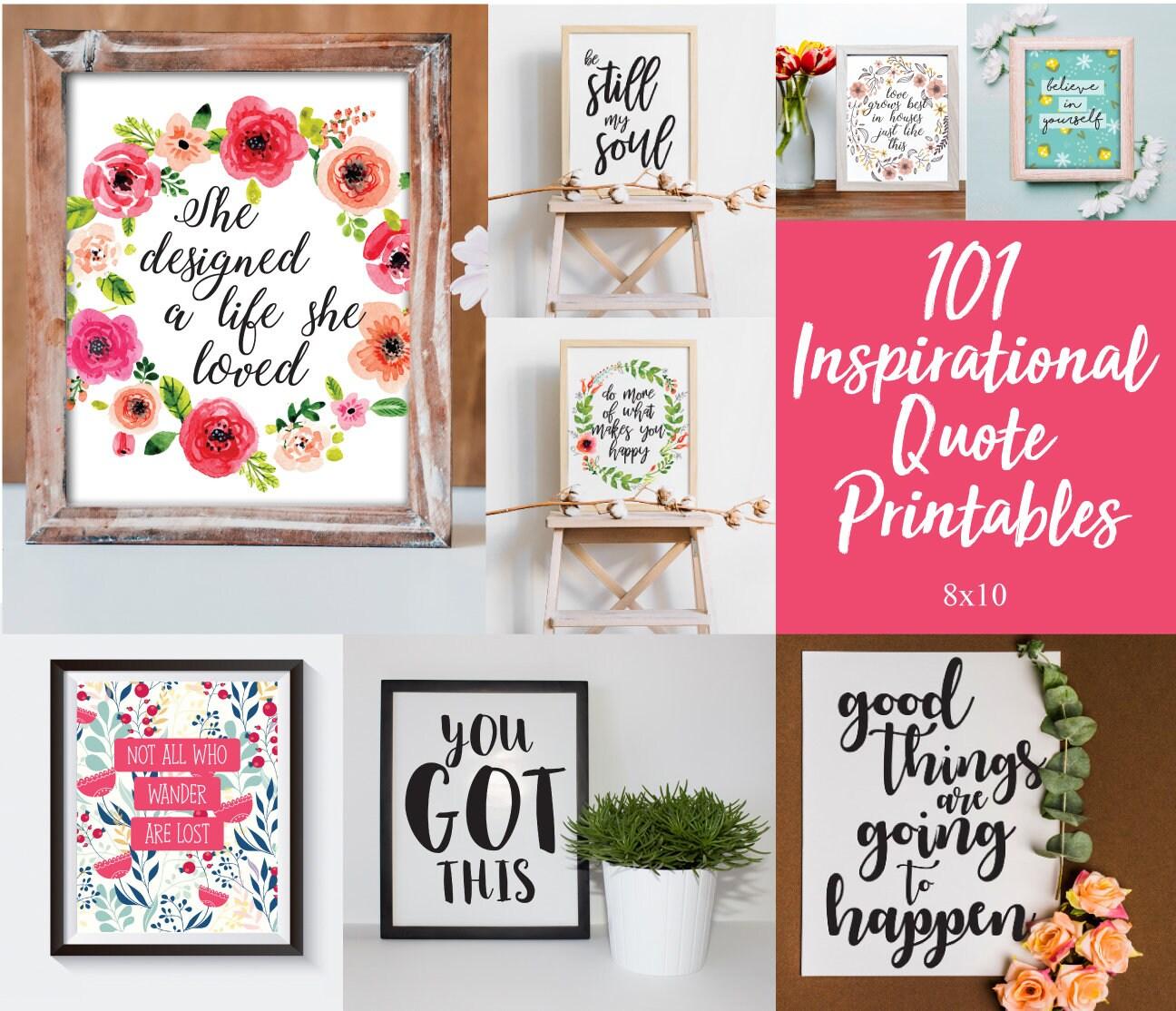 c13c7ee58ba4 101 Inspirational Quote Printables Printable Wall Art Home | Etsy