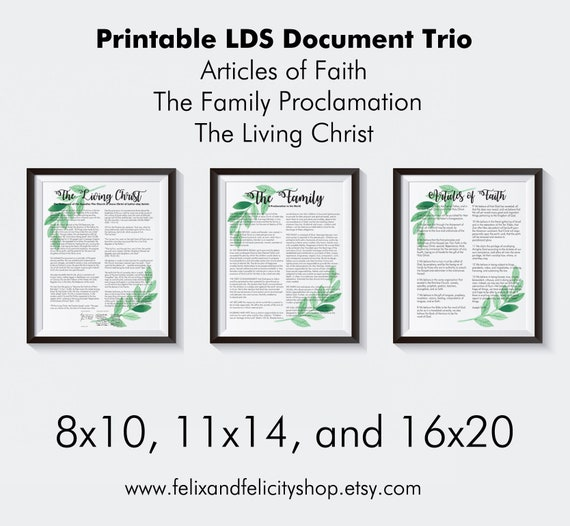 graphic relating to The Living Christ Printable titled LDS-The Loved ones: A Proclamation in the direction of the Global, The Residing