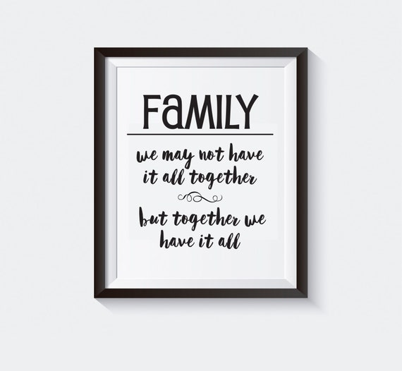 Printable Gallery Wall Quote Family Gift Ideas Family Quote Gift