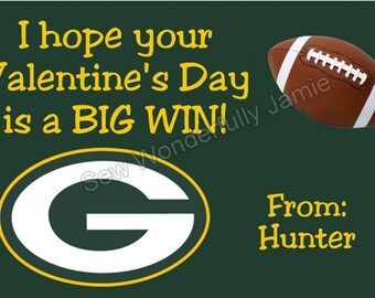 Green Bay Packers Valentine's Day Printable DIY