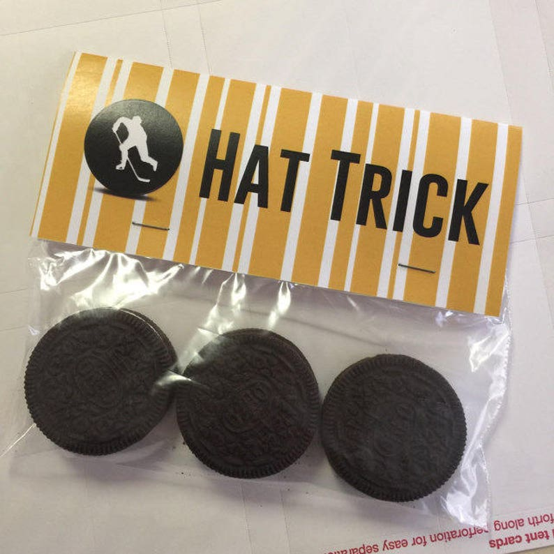 Hat Trick Bag Hockey Birthday Party Treat Topper Bags
