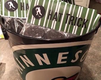 Hat Trick Bag Hockey Birthday Party Treat Topper Bags Green Minnesota Wild