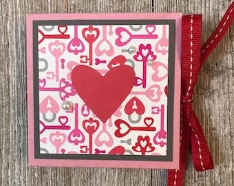 Keys to Love Mini Accordion Book