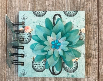 Time to Bloom Teal Gratitude Journal for 100 Days