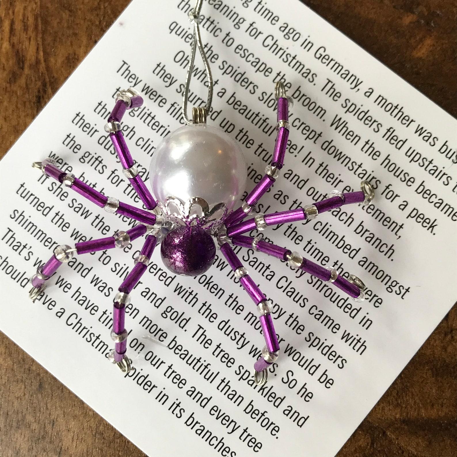 Christmas Tinsel Spider
