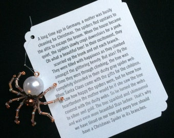 German Christmas Spider Ornaments (Copper)
