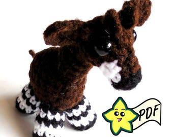 PDF Crochet Amigurumi Animal Pattern: Miniature Okapi Amigurumi PATTERN