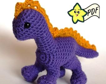 PDF Crochet Amigurumi Animal Pattern: Dragon/Dino Amigurumi PATTERN