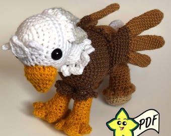 PDF Crochet Amigurumi Animal Pattern: Hippogriff/Griffin Amigurumi PATTERN