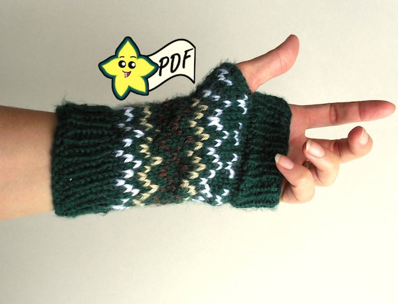 Pdf Knit Glove Pattern Fits Like A Glove Style Fingerless Etsy