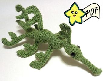 PDF Crochet Amigurumi Animal Pattern: Leafy Sea Dragon  Amigurumi PATTERN