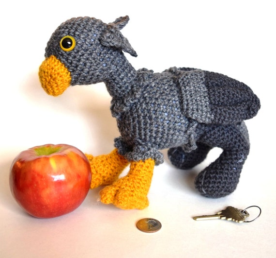 Buckbeak the Hippogriff from Harry Potter Crochet Pattern (free ... | 531x570