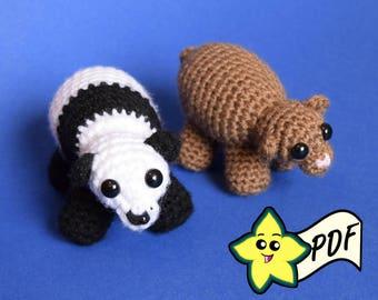 PDF Crochet Amigurumi Animal Pattern: Miniature Bear Amigurumi PATTERN