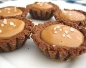 Chocolate Sea Salt Caramel Tarts - (4)