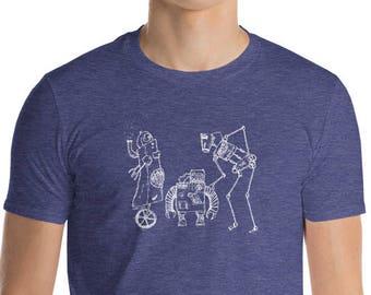 Steampunk Robots Engineer Tshirt | Industrial Robots Nerdy Mens Shirt | Steampunk Tee Mens Robot Shirt | Industrial Tee | Nerdy Mens T-shirt