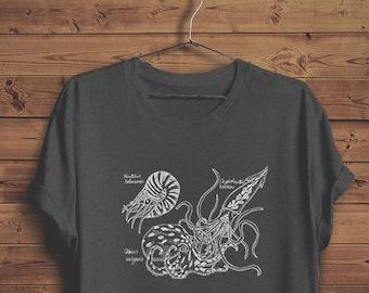 Marine Biologist Octopus T-shirt | Steampunk T-shirt | Cephalopod / Nautilus Biology T-shirt | Marine Biology Naturalist | Biologist