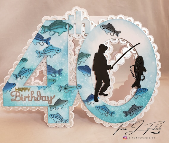 Download Silhouette Cameo Cricut 40th Fishing Card Tf0255 Svg Mtc Scal Scanncut Paper Party Kids Scrapbooking Commentfer Fr