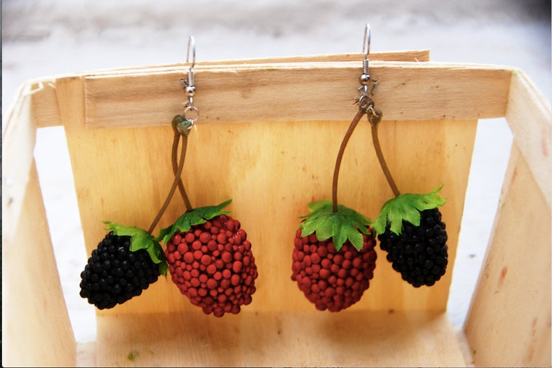 LIMITED TIME OFFER  Charming Red Raspberry and Blackberry image 0