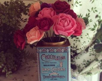 Felt Flower Handmade Stems // Summer Flowers // Wedding Baby Bridal Shower Decor // Wedding Decor // Birthday Gift