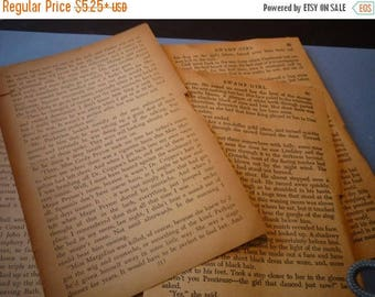 Vintage Book Pages - Antique pages - 1880s to 1930s - special aged paper - packs of old book pages, sheets and more scrapbook for collage