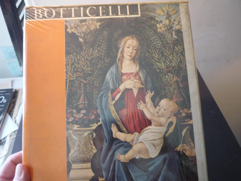 Botticelli - by Lionello Venturi Phaidon Press - 1961 Very Good Condition -  gift for art lovers - color plates withdrawn library book