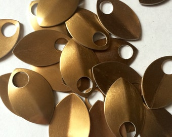 Large bronze color anodized aluminum scales for Scalemaille and Chainmaille