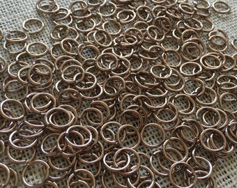 unenced dia burnished steel 1.6 mm wide 3kg loose round chain rings 9 mm