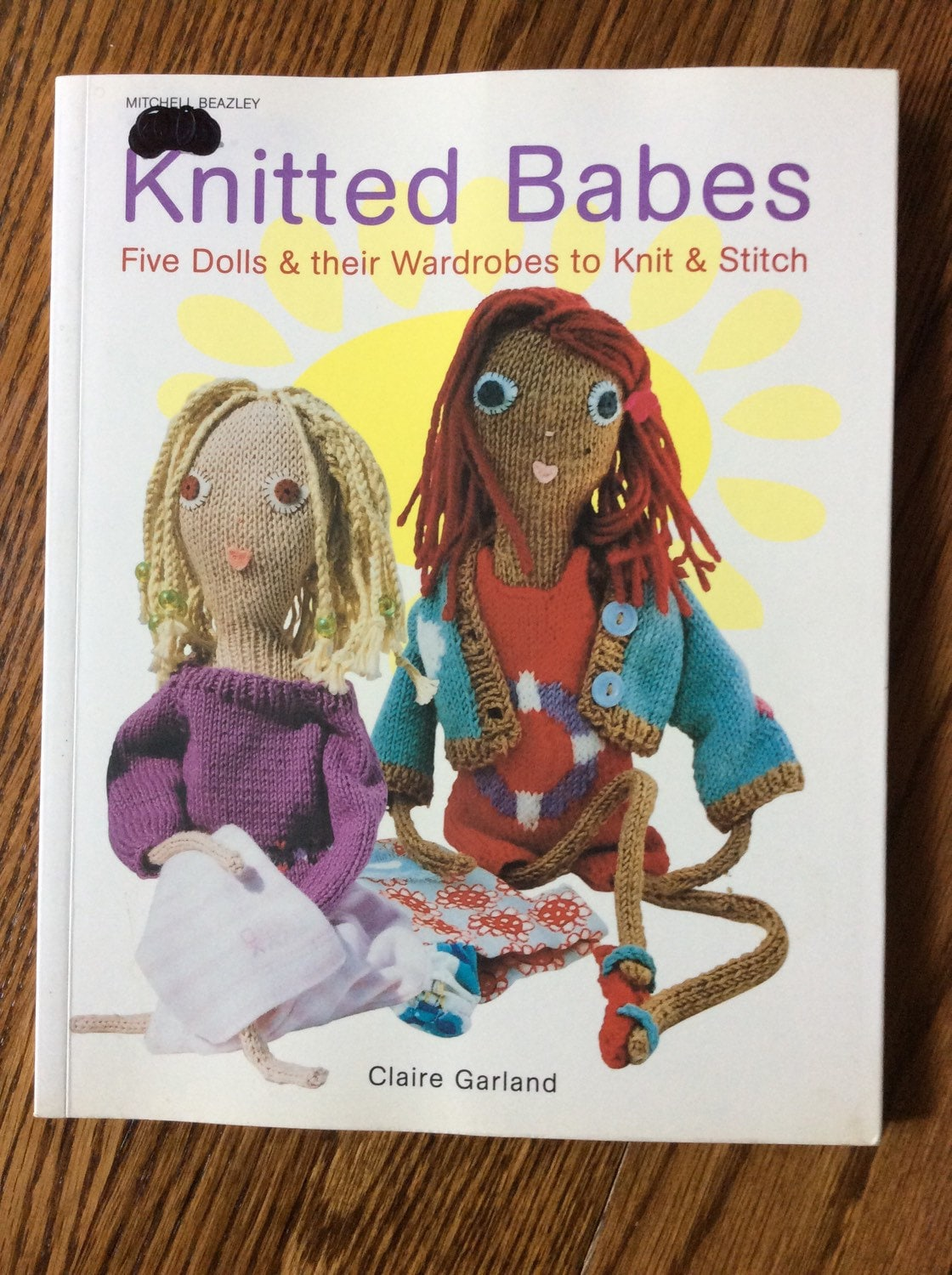 How To Make A Knitted Book Cover ~ Knitting pattern book knitted babes five dolls and etsy