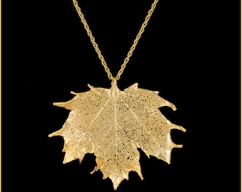 maple necklace Maple leaf bronze pendant on golden chain small leaf pendant nature inspired subtle pendant lace jewlery