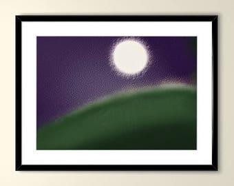 Fatness of the Moon Printable Art, Digital Download