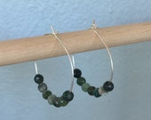 Moss Agate Hoop Earrings...