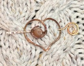 Hammered Copper Heart Cla...