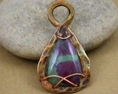 Ruby in Zoisite teardrop ...