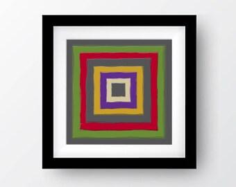 Color Block Printable Art, Digital Download