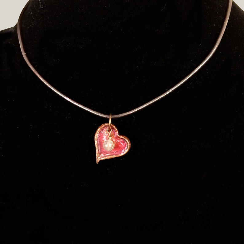 Labradorite Heart Choker Necklace image 0
