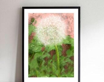 Dandelion Fractal Printable Art, Digital Download