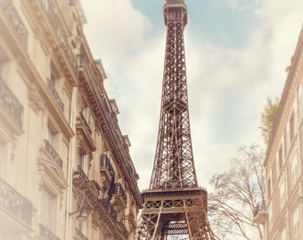 Eiffel Tower Photograph | Paris Photography | Travel and Landscape | Wall Art Prints |  Parisian Streets |  Paris Print | Home Decor