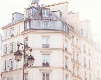 Paris Photography Art  | Parisian Architecture | Large Wall Decor | Fine Art | Photographic  Prints | Travel | Wanderlust | White Art Print