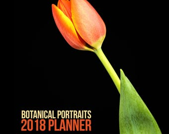 2018 Planner, Flower Photography, Monthly Calendar, Desk Planner - 5x5 Yearly Planner, Nature Photographs, Ready to Ship, Notebook Calendar