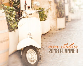 2018 Calendar, Ready to Ship, Italy Calendar, 2018 Monthly Planner, 5x5 Desk Calendar, Italy Photography, Notebook Calendar, Travel Planner